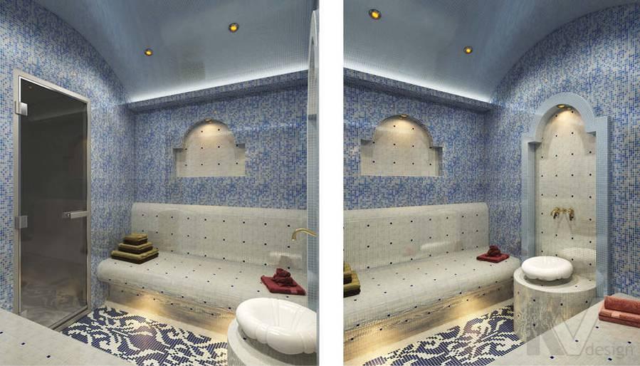 Дизайн хамама в коттедже, КП Эдельвейс
