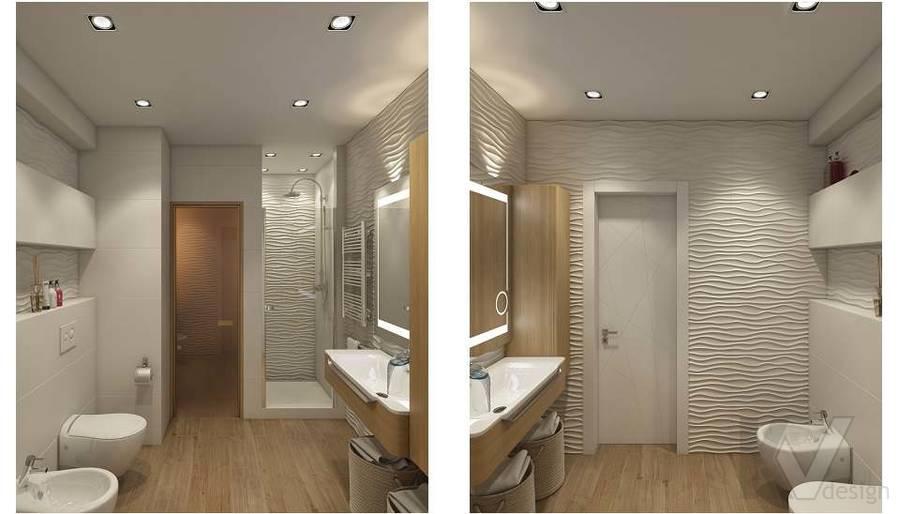 Дизайн ванной в 2-комнатной квартире в Мытищах - 1