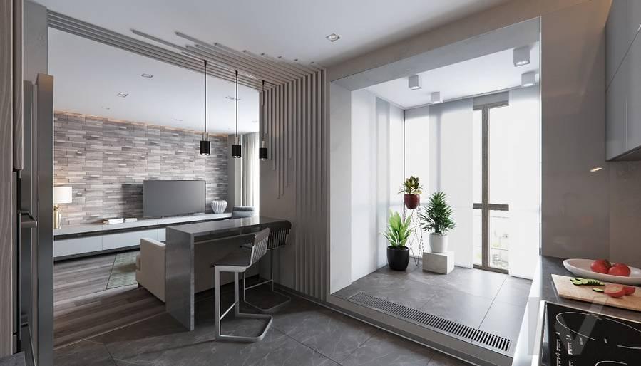 Кухня в проекте объединения квартир, Мытищи - 3