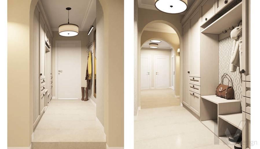 Дизайн прихожей в квартире П-3М на Профсоюзной - 1