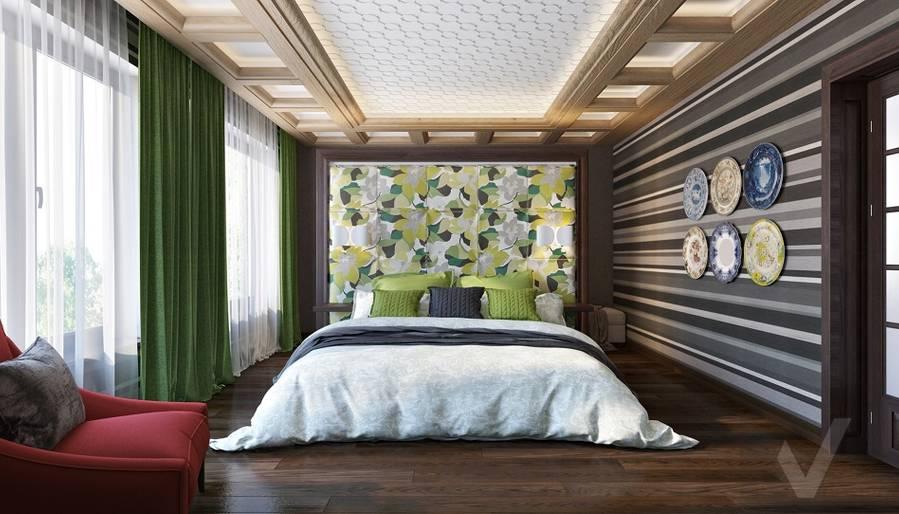 Дизайн спальни в трехэтажном доме - 2