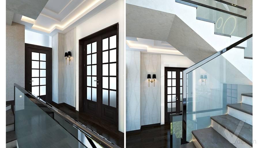 Дизайн кабинета в трехэтажном доме - 1