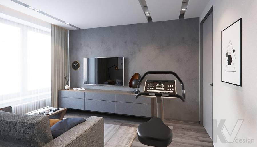 Спальня в проекте объединения квартир, Мытищи - 4