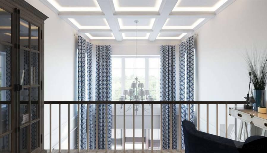 Дизайн кабинета в коттедже, КП «Vita Verde» - 4