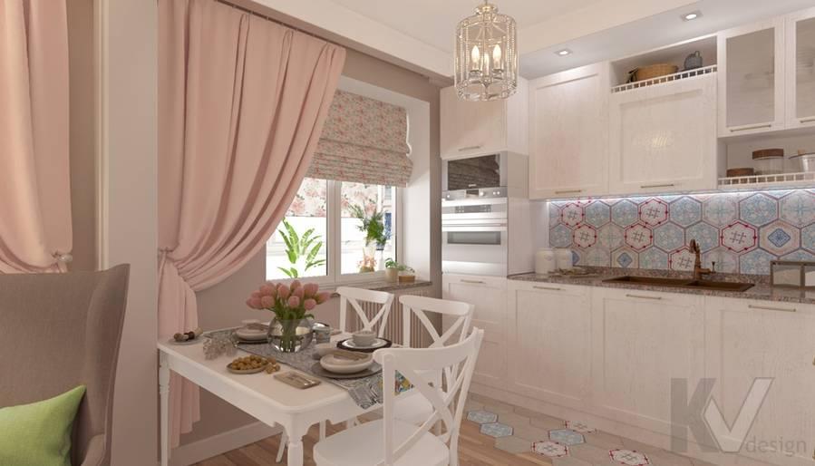 дизайн гостиной-кухни в 3-комн. квартире башни Вулыха - 2