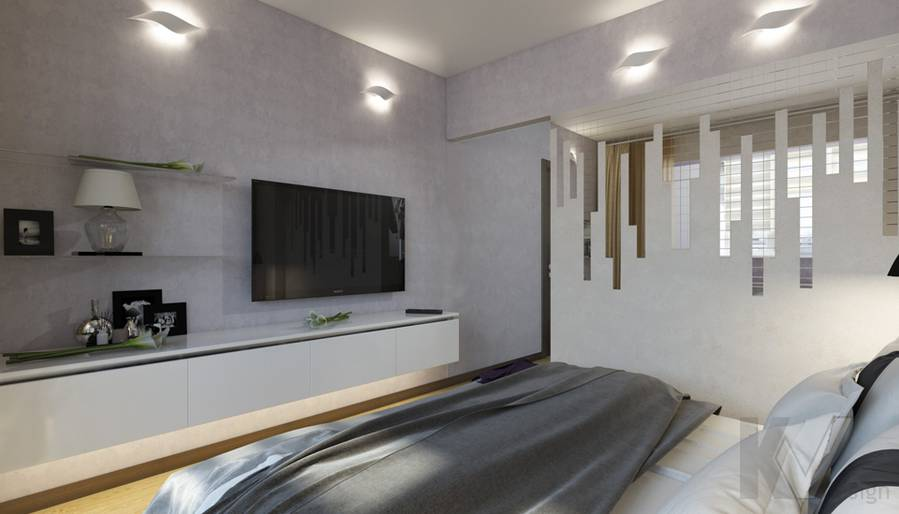 дизайн спальни в 3-комнатной квартире П-44Т, Речной вокзал - 3