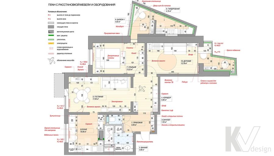 Перепланировка квартиры серии П-3, м. Братиславская
