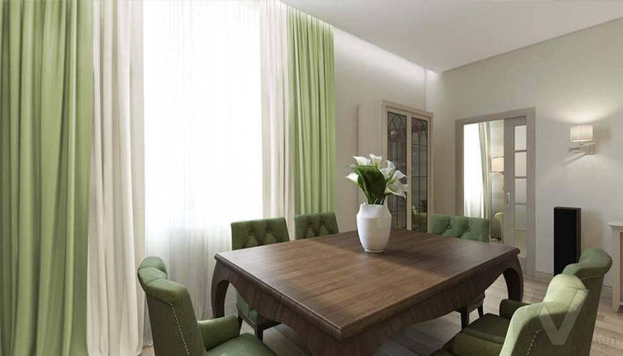 """Дизайн гостиной-кухни в 2-комнатной квартире, ЖК """"Авеню 77"""" - 5"""