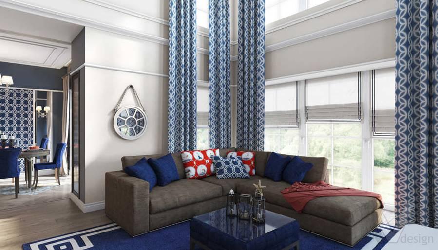 Дизайн гостиной в коттедже, КП «Vita Verde» - 2