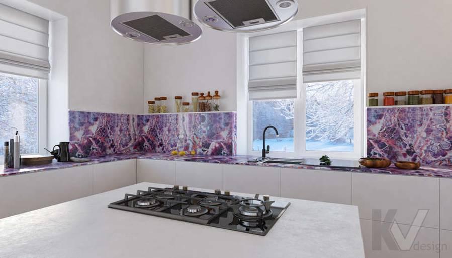 Дизайн кухни в доме, КП Пестово - 3