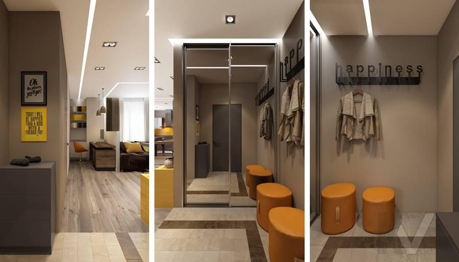 дизайн прихожей в квартире на проспекте Вернадского