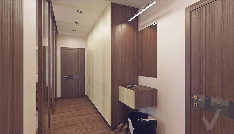 Дизайн коридора в 2-комнатной квартире, Реутов