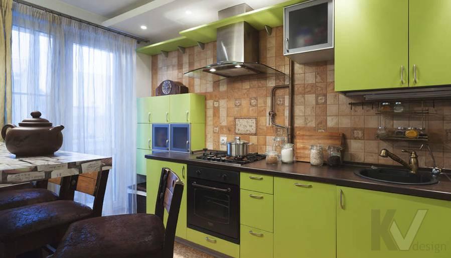 дизайн однокомнатной квартиры - фото кухни 2