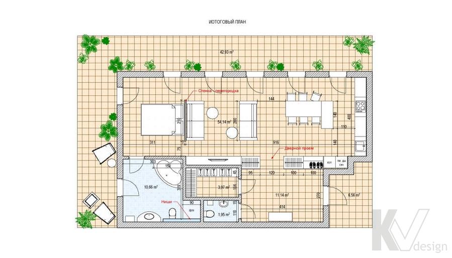 Дизайн таунхауса в Сочи, перепланировка