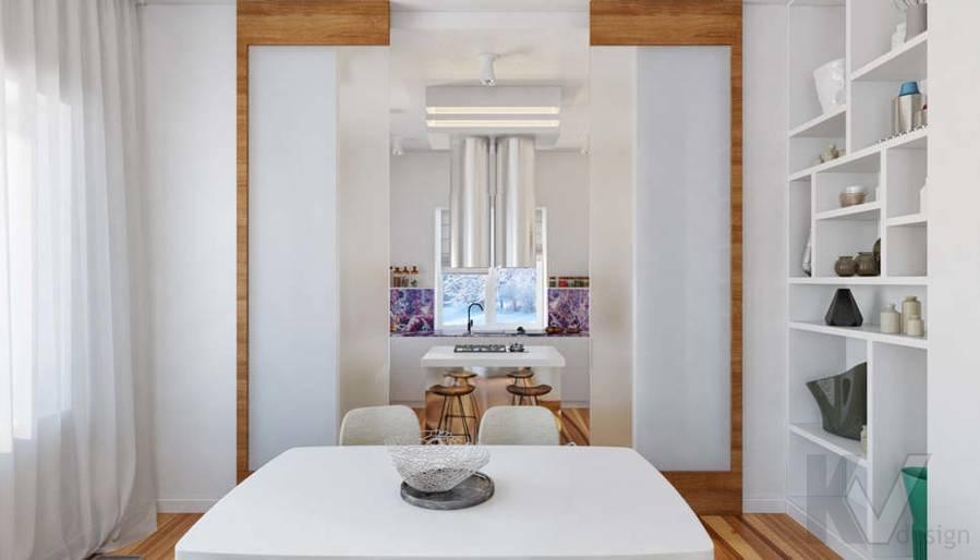 Дизайн кухни в доме, КП Пестово - 1