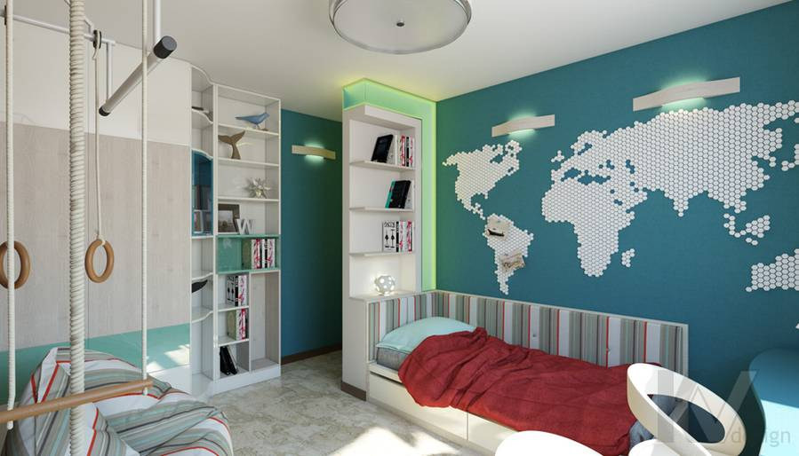 дизайн детской в 3-комнатной квартире П-44Т, Речной вокзал - 4