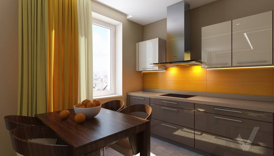 дизайн кухни в квартире на проспекте Вернадского - 4