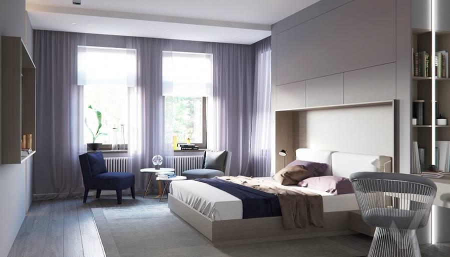 Спальня в доме в поселке Павлово - 1