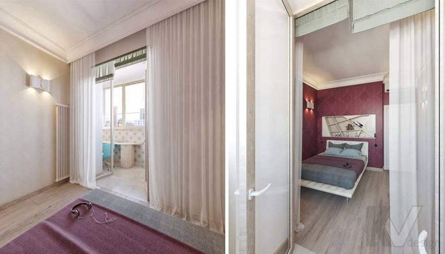 дизайн спальни в квартире на Мосфильмовской - 4