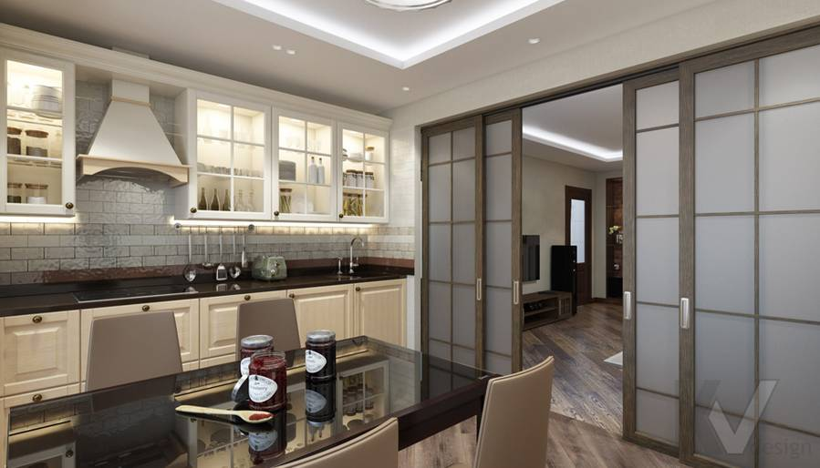Кухня в 4-комнатной квартире, Реутов - 2