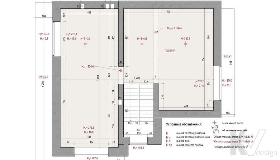 Планировка 3-го этажа дома, КП «Парк Авеню»