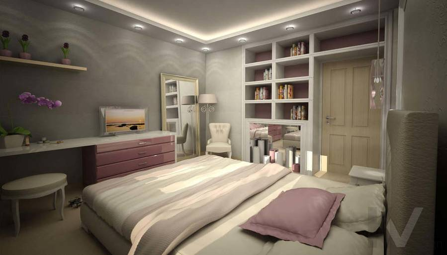 Дизайн квартиры И-155, спальня-1