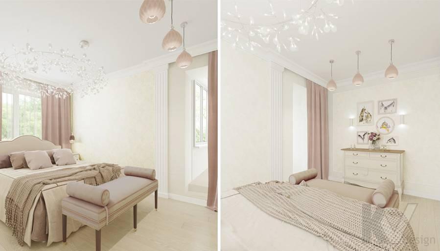 Дизайн спальни в квартире серии П-3, м. Братиславская - 2
