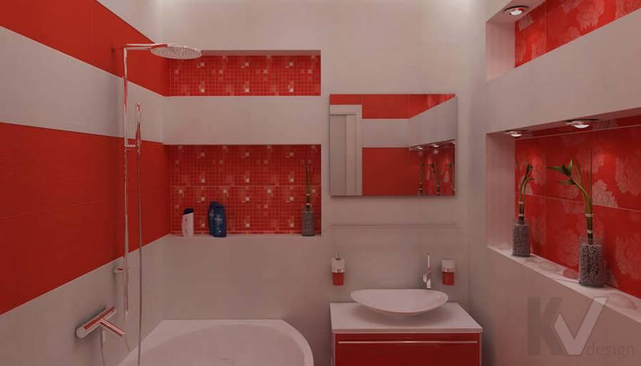 Дизайн ванной комнаты в двухкомнатной квартире - 1