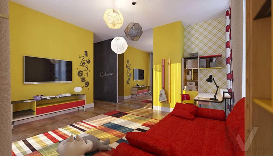 Дизайн детской комнате в доме, КП Монтевиль - 3