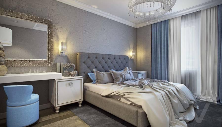 Дизайн спальни в 5-комнатной квартире, Климовск - 1