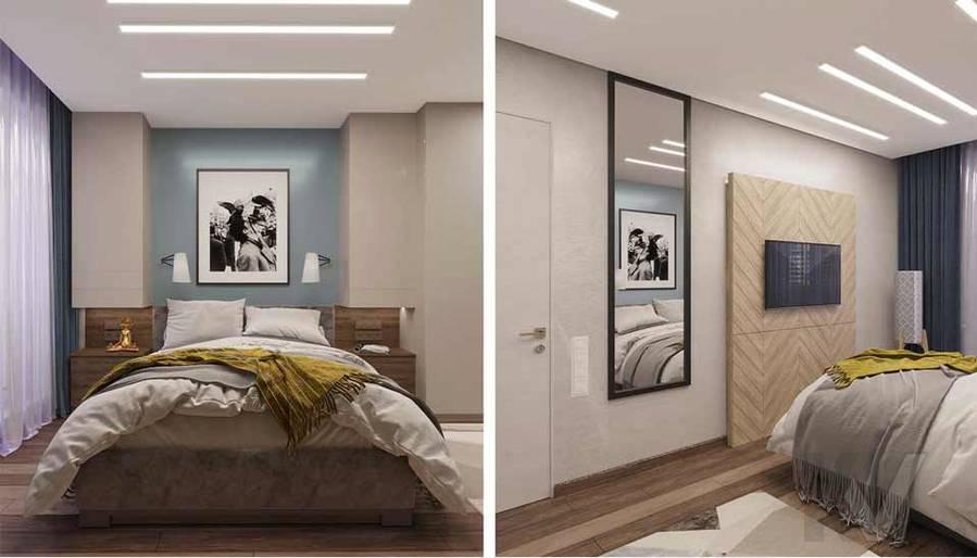 Дизайн спальни в квартире серии П-3М, Южное Бутово - 1