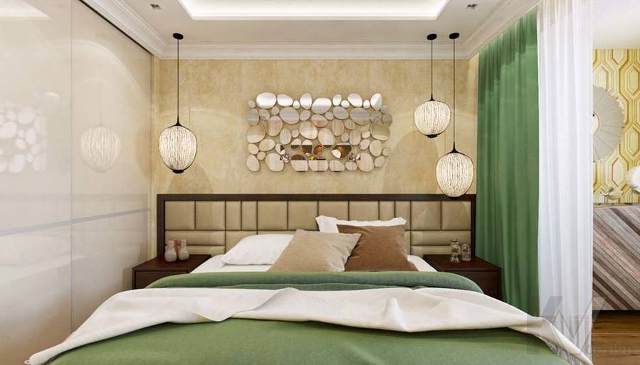 дизайн спальни в четырехкомнатной квартире П-3М - 6
