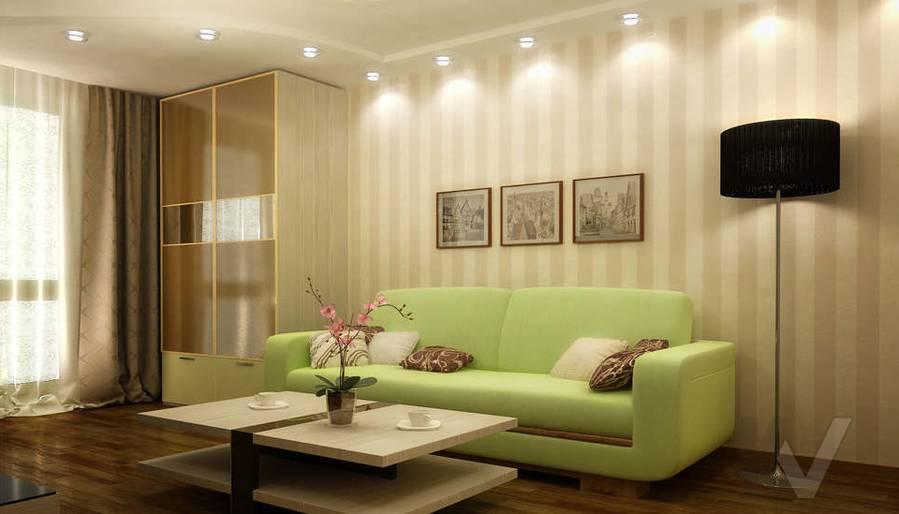 Дизайн двухкомнатной квартиры, Развилка, гостиная - 1