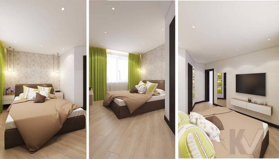 дизайн спальни в квартире П-3М, Владыкино - 4