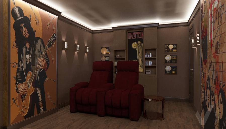 Дизайн комнаты отдыха в квартире П-44Т, Переделкино Ближнее - 1
