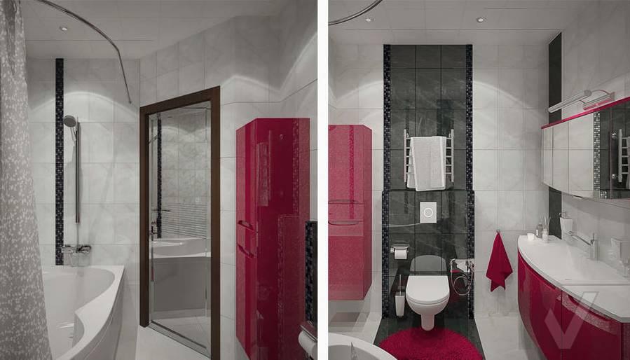 Дизайн ванной в 2-комнатной квартире - 5