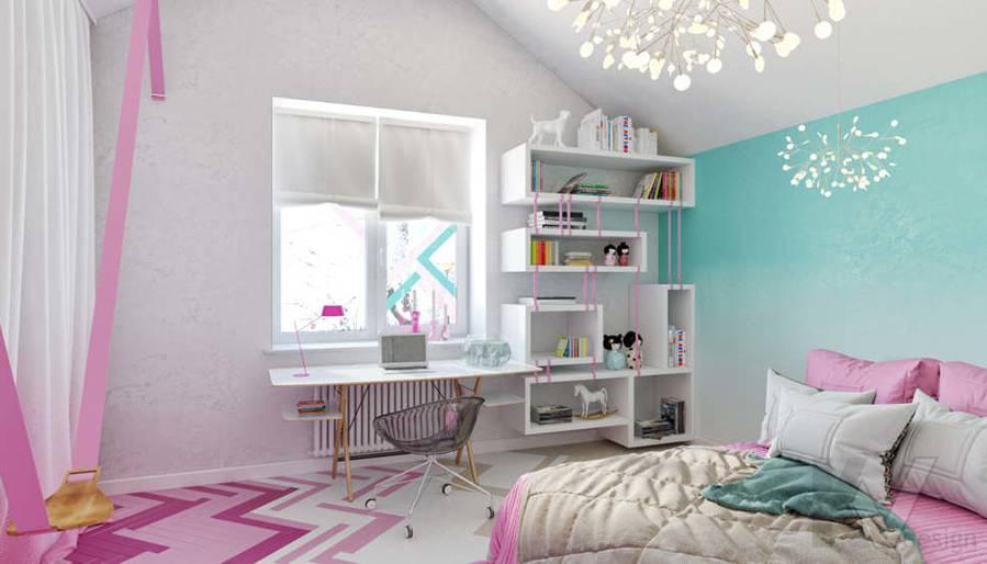 Дизайн комнаты девочки в доме, КП Пестово - 3