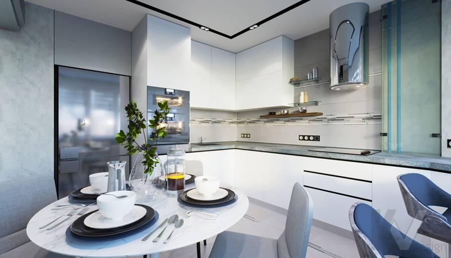 Кухня в 3-комнатной квартире П-44Т, Медведково - 3