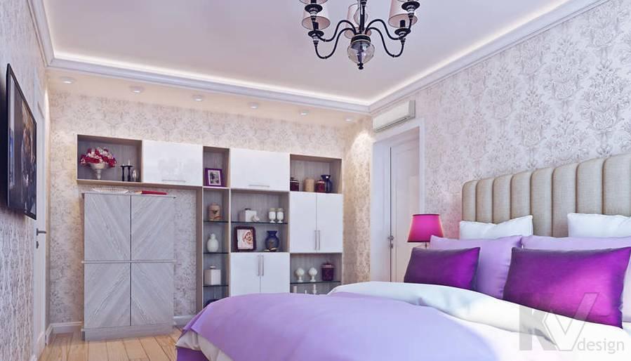 Дизайн спальни в квартире П-3М на Профсоюзной - 4