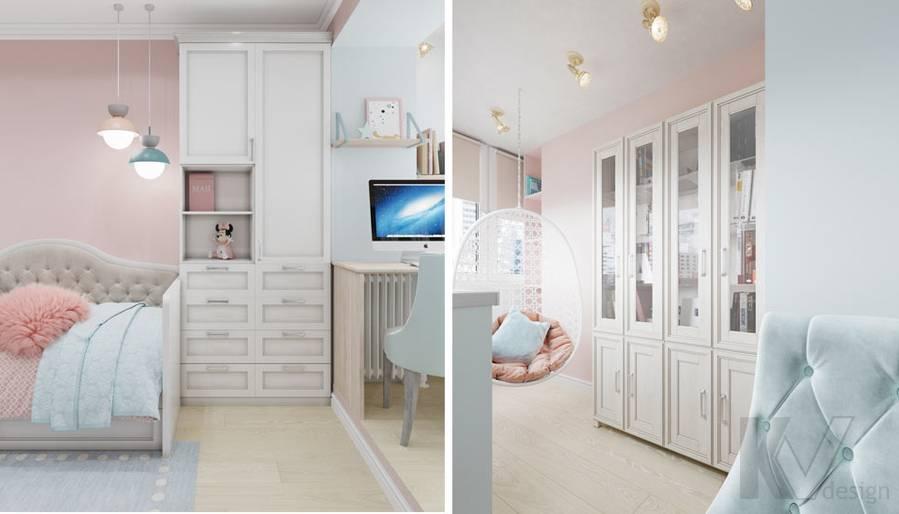 Дизайн детской в квартире серии П-3, м. Братиславская - 4