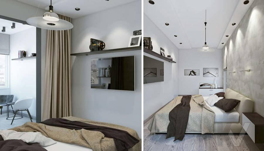 дизайн спальни в 3-комн. квартире, Москворечье - 4