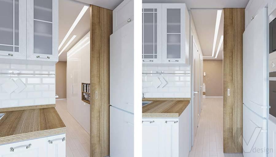 Дизайн прихожей в 2-комнатной квартире П-44Т, Московский - 3