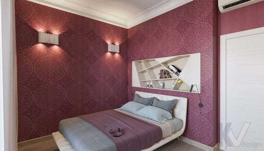 дизайн спальни в квартире на Мосфильмовской - 2