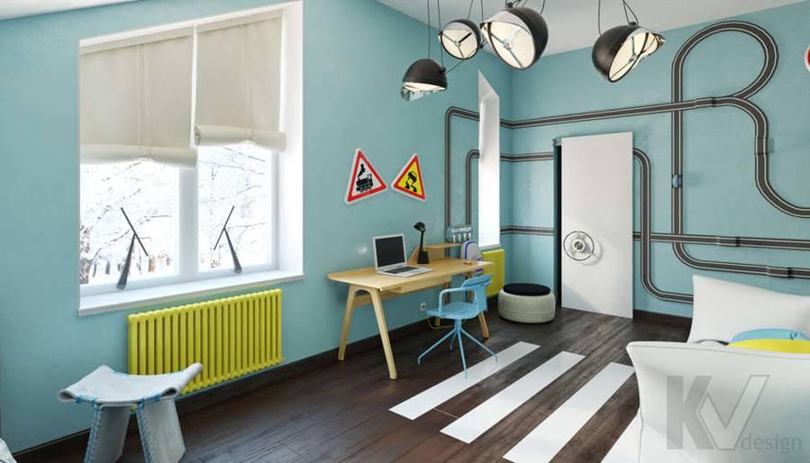Дизайн комнаты мальчика в доме, КП Пестово - 5