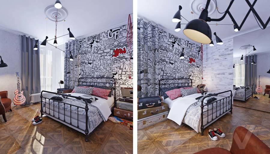 Дизайн спальни дочери в доме, КП Монтевиль - 4