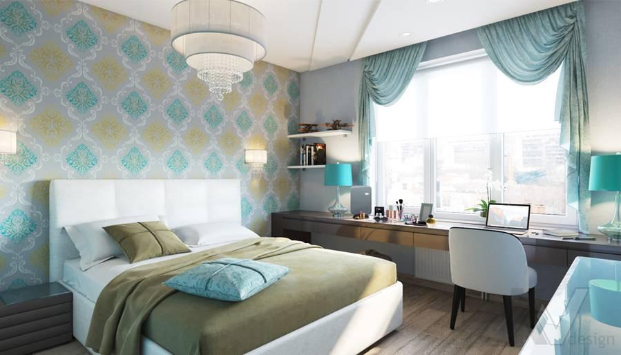 дизайн спальни в 3-комнатной квартире, Welton Park - 1