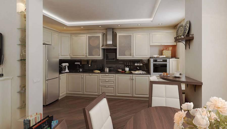 Дизайн 3 комнатной квартиры ЖК Богородский, гостиная - 2