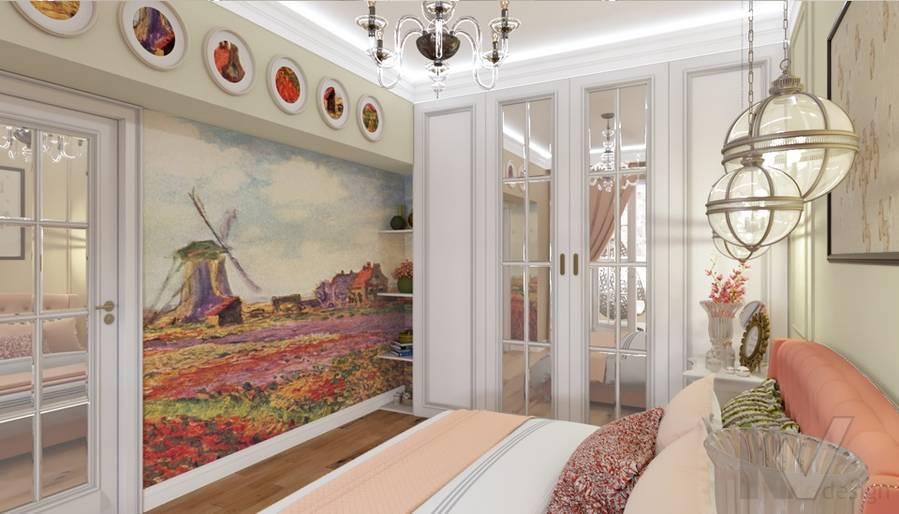 дизайн спальни в 3-комн. квартире башни Вулыха - 2