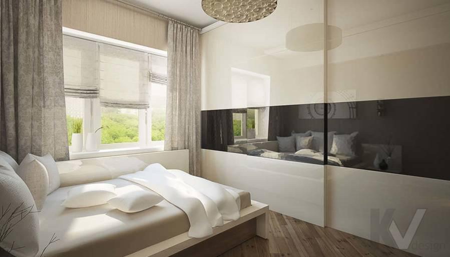 Дизайн квартиры на Старом Арбате, спальня - 1