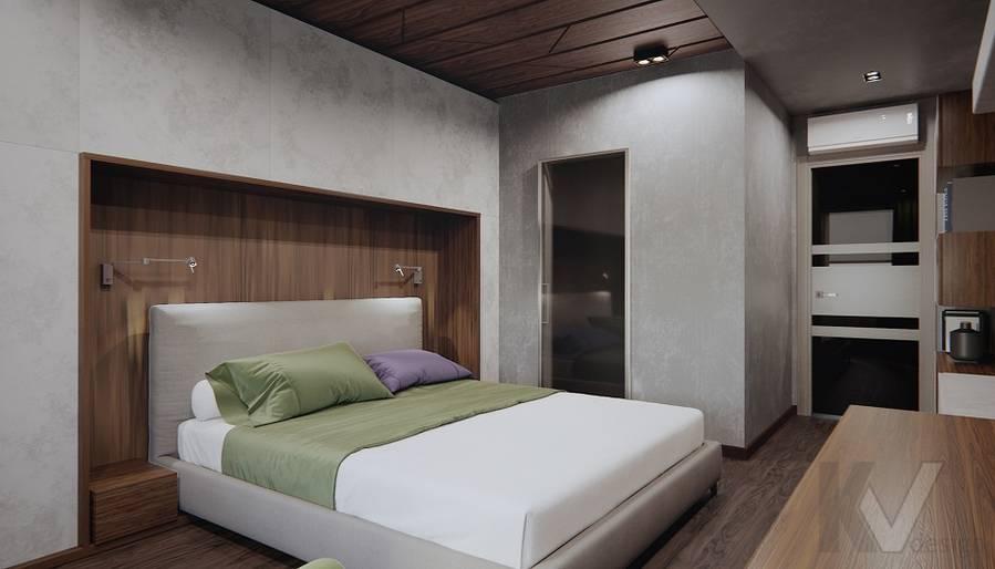Спальня в 3-комн. квартире на Варшавском шоссе - 4Спальня в 3-комн. квартире на Варшавском шоссе - 1